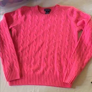 Ralph Lauren Cashmere Cable Knit Sweater Girls XL